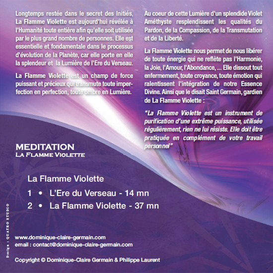 CD de méditation La Flamme Violette